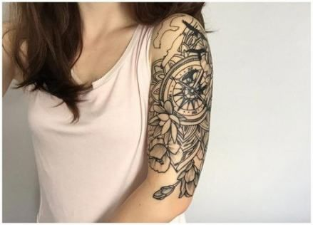 60 Ideas Tattoo For Women Half Sleeve Compass Half Sleeve Tattoo Half Sleeve Tattoos Designs Tattoos For Women Half Sleeve