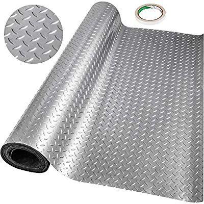 Happybuy Garage Floor Mat 10 X 3 6 Ft Garage Flooring 2 5mm Thickness Silver Garage Mat Pvc Garage Floor Mats For Un In 2020 Garage Floor Mats Garage Mats Garage Floor