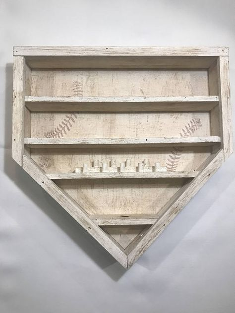 This Baseball Shelf Display Includes 9