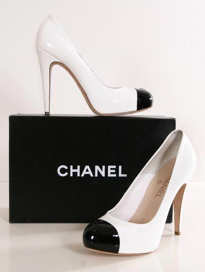 Chanel heels, Heels, Fashion shoes