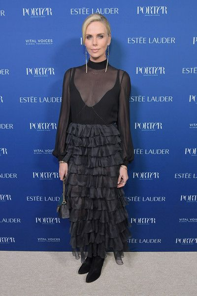 Charlize Theron attends the PORTER Incredible Women Gala 2018.