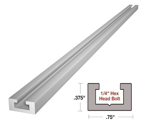 48 Alu Mini T Track For Standard 1 4 X 20 Hex Bolt T Track Hex Bolt Wood Turning