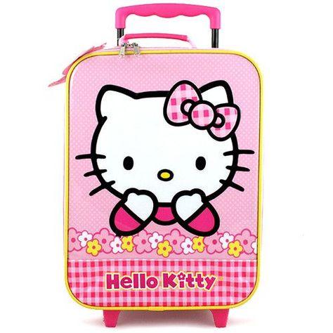 Hello Kitty Rolling Case [Flowers]