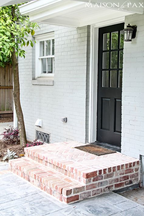 Brick porch and white door | maisondepax.com