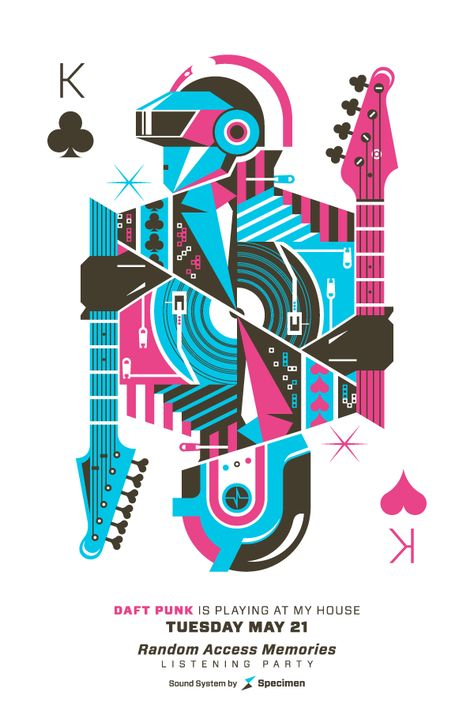 Tribute to Daft Punk by Eric Torres, via Behance #poster #daftpunk #illustration