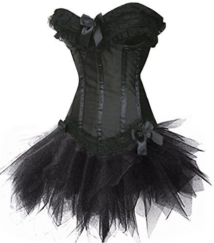 Corsage Kleid Mini Rock Petticoat Tutu Korsett