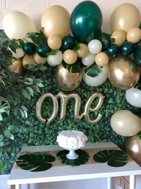 Sloth ONE Age High Chair Birthday Party Banner Sign Pink Green Gold Woodland