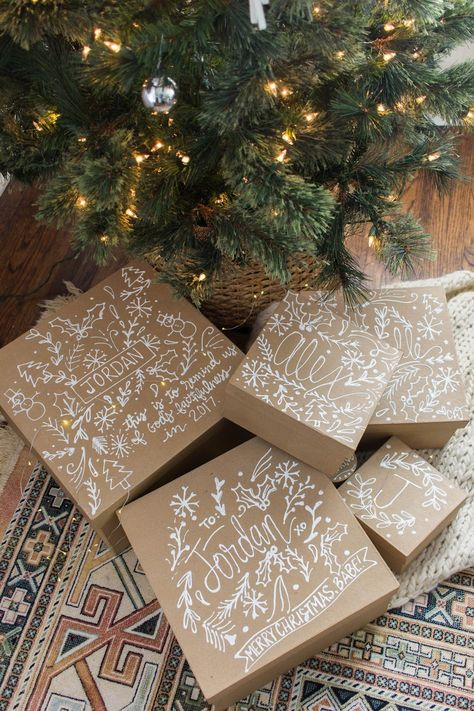 DIY Gift Boxes: Personalized Brown Paper Packages