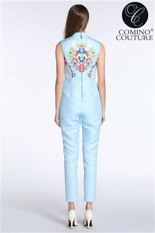 Comino Couture Kombinezon Niebieski Kwiaty 40 L 12 7897857277 Oficjalne Archiwum Allegro Fashion Dresses Jumpsuit