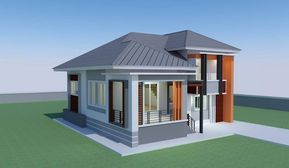 Modern And Unique 3 Bedroom House For A Growing Family Pinoy Eplans Minimalist House Design Courtyard House Plans Bungalow House Plans