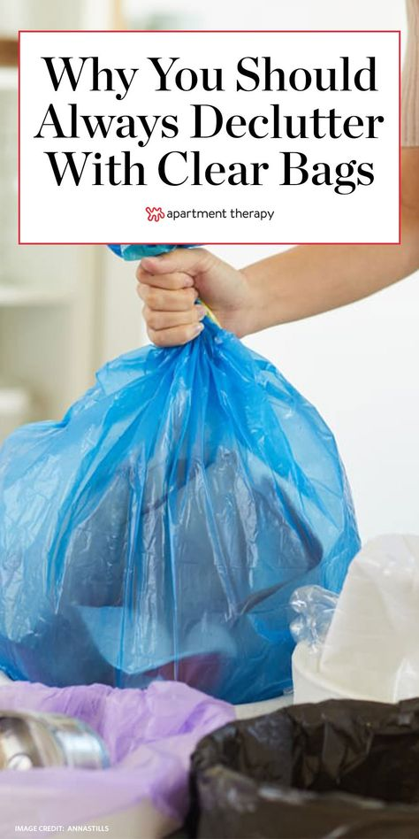 Next time you declutter, use a clear garbage bag—here's why. #decluttering #declutteringtips #cleaning #cleaningtips #cleaninghacks #lifehacks #lifetips