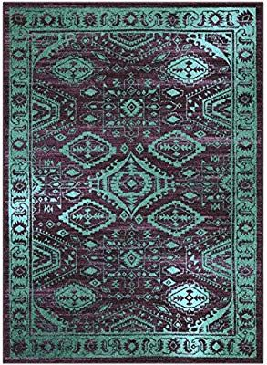 Maples Rugs Area Rugs Georgina 5 X 7 Non Slip Large Rug Made In Usa For Living Room Bedroom And Dining Room 5 X Purple Area Rugs Maples Rugs Area Rugs Area rugs made in usa