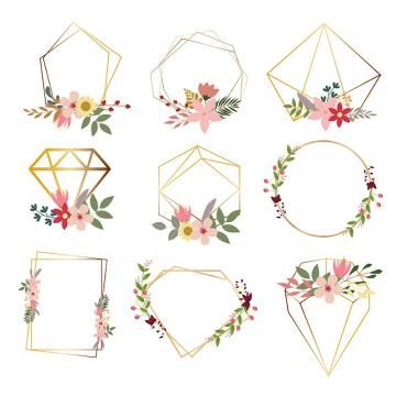 Flower Png Images Download 160000 Flower Png Resources With Transparent Background Geometric Nature Wreath Illustration Flower Png Images