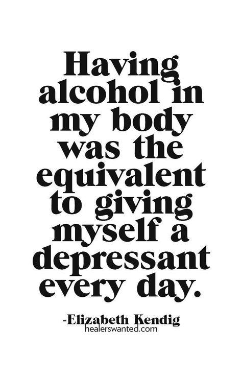 via healerswanted.com #alchohol #depressant #sobercurious #sobernovember
