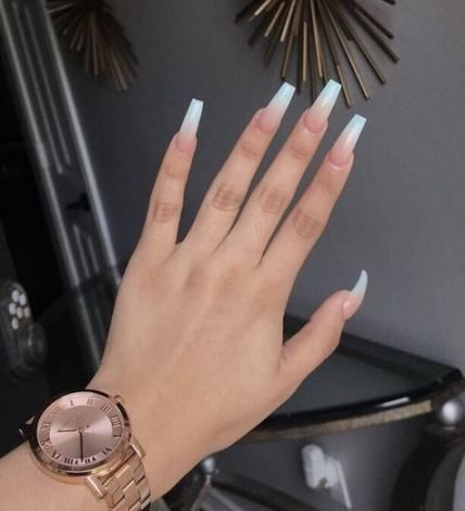60 Ideas Nails Design Coffin Ombre With Images Ombre Acrylic