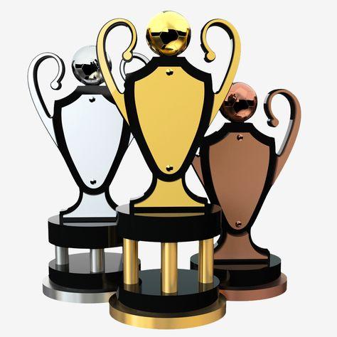 Cheap trophées-Gold Pole Star Trophy Award pour Sports scolaires-Gravure Gratuite