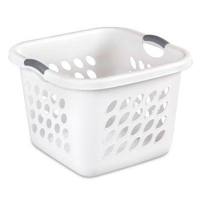 Sterilite 12178006 Ultra Square Laundry Basket With Titanium Inserts 6 Pack Adult Unisex Laundry Basket