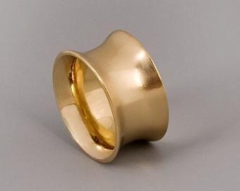 Wonderlijk Brede gouden Band Ring, Sterling Zilver brede Ring, alternatieve VR-03