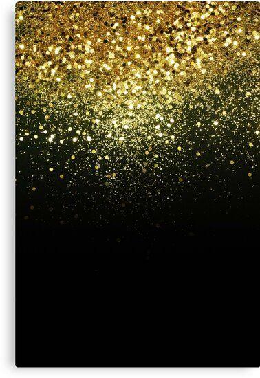 Sparkling Gold Glitter Glam 1 Shiny Decor Art Canvas Print By Anitabellajantz Gold Glitter Canvas Prints Sparkle Wallpaper gold glam behind white