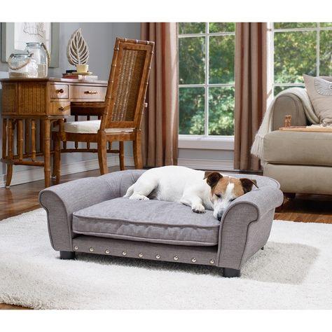 Brisbane Tufted Sofa Bed Grey Dog Sofa Bed Furniture Dog Bed