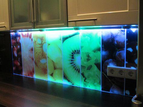 Coole Alternative zur Wandfliesebedruckte Rückwände aus Alu - plexiglas als küchenrückwand