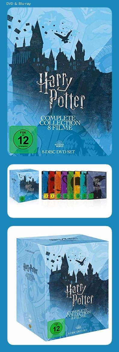 Harry Potter The Complete Collection 8 Dvds Dvd Blu Ray