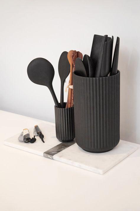 Large Marble Tray - White/Black – The Line Kitchen Jars, Ikea Kitchen, Kitchen Items, Kitchen Utensils, Kitchen Tools, Kitchen Gadgets, Cooking Gadgets, Cooking Tools, Marble Floor Kitchen