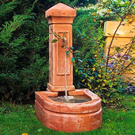 Terracotta Brunnen Florenz Gartenbrunnen Garten