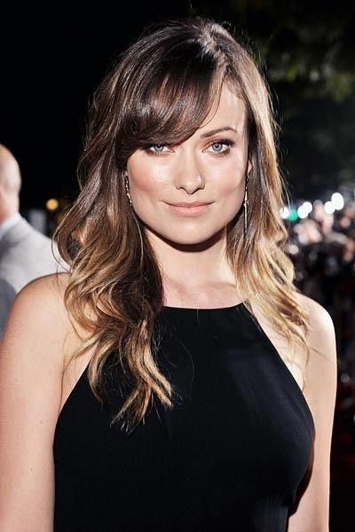 Olivia Wilde Smokey Brown Makeup Weddinghairhalfup Square Face Shape Square Face Hairstyles Face Shapes