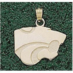 LogoArt Kansas State Wildcats 10K Gold Team Logo 5/8 Pendant