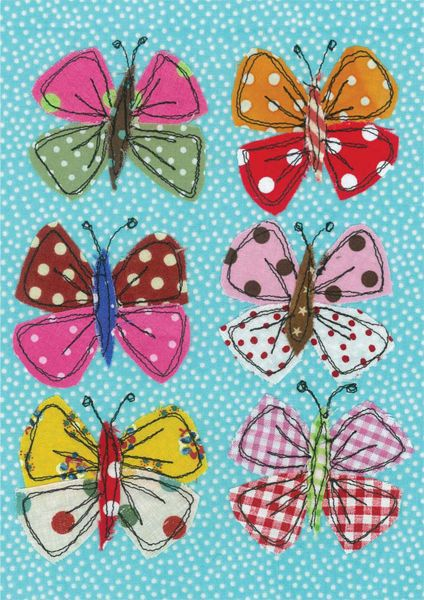 Butterflies - raw edge applique