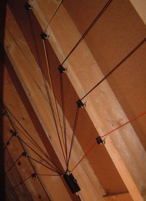 Hb9mtn Indoor Multiband Dipole For 40m 10m Ham Radio Antenna Ham Radio Diy Tv Antenna