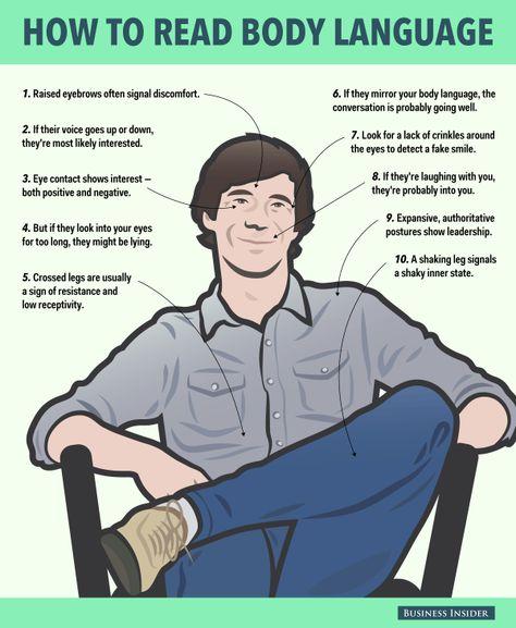 10 Ways To Read Body Language #socialselling #contentmarketing