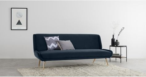 Made Sapphire Blue Velvet Sofa Bed Sofa Sofa Bed Armchairs For Sale