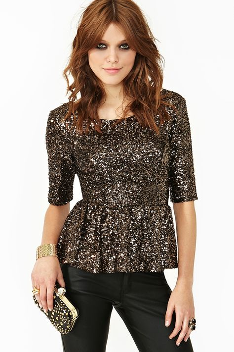 Golden Years Peplum Top