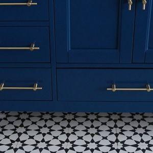 timeless design b671d d390d Kendall Blue Bathroom Vanity - Contemporary - Bathroom ...