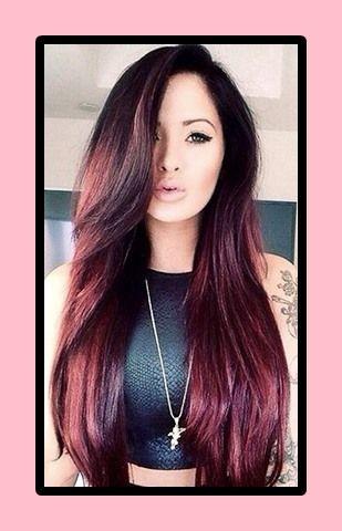 Haarfarbe dunkle kirsche