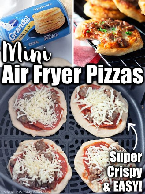 Air Fryer Pizza - Cooks in 4-minutes - Crispy and Easy