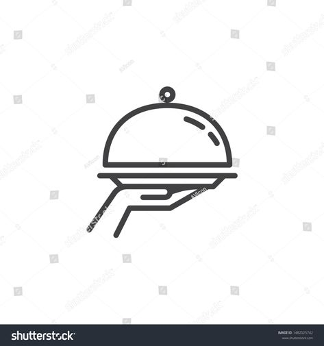 Fork Knife Plate Line Icon Linear Stock Vector (Royalty Free) 1482025847