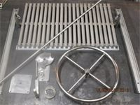 1 ARGENTINE MASONRY V GRATE GRILL KIT 100% ALL STAINLESS