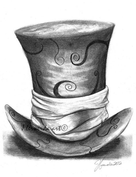 Pencil Drawing Print - Mad Hat - Day 280