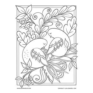 018 Ph D041 Two Turtle Doves Coloring Pages Artist Inspiration Doves