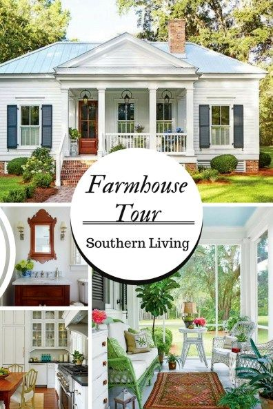 Farmhouse Tour Southern Living 800 Sq Ft Farmhouse Sweet Southern Blue Southern Farmhouse Southern Cottage Southern Living House Plans Farmhouse