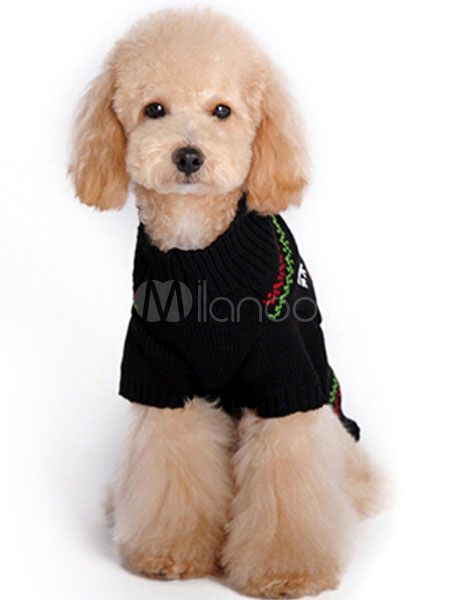 Black Dog Sweaters Deer Knit Pet Clothes Halloween Sweaters