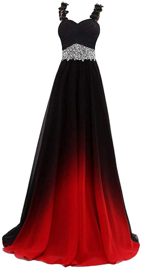online shopping for Beilite Beaded Top Gradient Color Evening Gowns Chiffon Bridesmaid Dress Black&Red E 10 from top store. See new offer for Beilite Beaded Top Gradient Color Evening Gowns Chiffon Bridesmaid Dress Black&Red E 10 Ombre Prom Dresses, Pretty Prom Dresses, Prom Dresses For Teens, Black Bridesmaid Dresses, Cheap Prom Dresses, Ball Dresses, Elegant Dresses, Homecoming Dresses, Cute Dresses