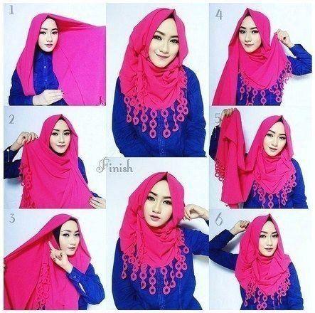 Tutorial Hijab Pashmina Simple Bahan Satin 1000 1000 Modern 1000 In 2020 Hijab Fashion Inspiration How To Wear Hijab Hijab Style Tutorial
