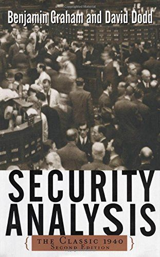 Security Analysis: Principles and Techniques by Benjamin Graham - Presents David Dodd and Benjamin Graham's original 1934 guide to value investing, with strategies and advice that are still relevant in the twenty-first century, with additional commentary from contemporary investment professionals.