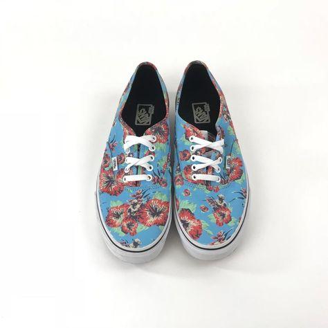 7c1b3a4fd9 Vans Star Wars Shoes Yoda Jedi Blue Floral Aloha Mens Size 12 Lace Up  Canvas  VANS  LowTop