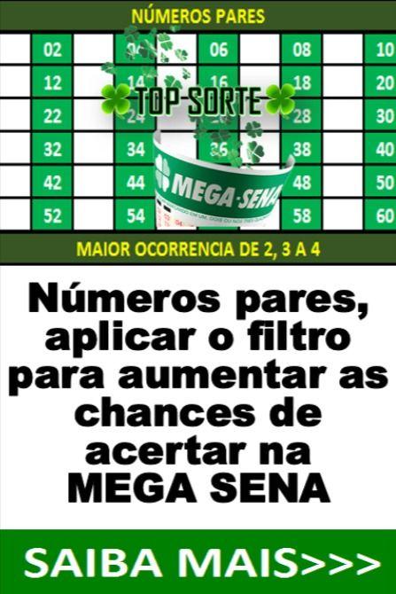 Usar Numeros Pares Para Jogar Na Mega Sena Mega Sena Sena Jogos Loteria