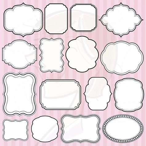 Digital Frames Clipart Clip Art Decoration Borders Download White Middle Scrapbooking Frames Commercial Use Personal Use Embellishment 10063 on Etsy, $5.70